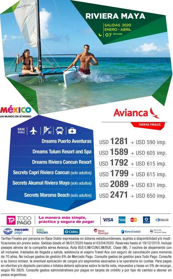 Riviera Maya - All Inclusive  Aéreo + 7 noches