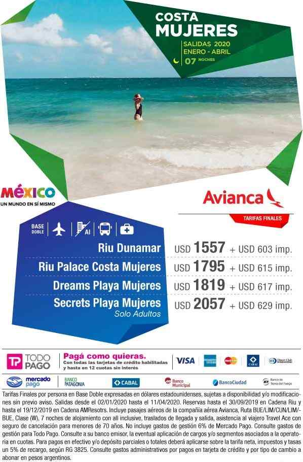 Costa Mujeres All Inclusive  México -  Aéreo + 7 noches