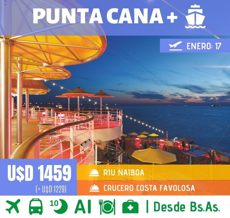 Punta Cana All Inclusive +  Crucero Costa Favolosa - Salida 17 Ene